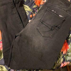 American Eagle Distressed Black Jeans